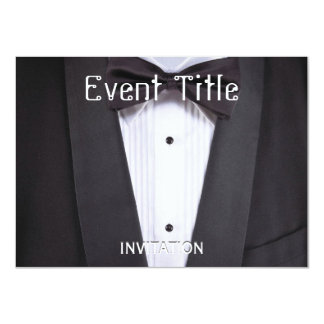 Tuxedo Black tie party formal Card