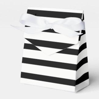 Tuxedo Black & White or Customizable Color Stripe Favor Box
