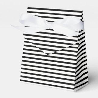 Tuxedo Black & White Stripe Favor Box