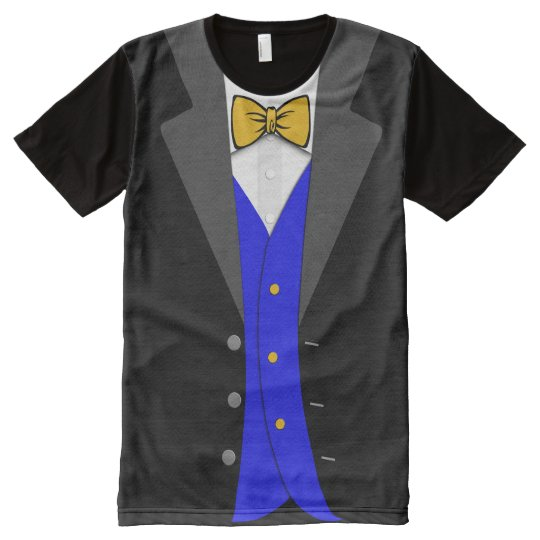 Tuxedo Bow Tie T-Shirt - Maize and Blue
