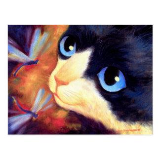 Tuxedo Cat Art - Multi Postcard