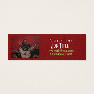 Tuxedo cat business cards