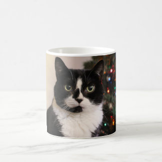 Tuxedo Cat Christmas Mug