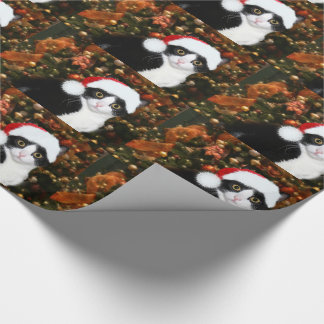 Tuxedo cat Christmas Wrapping Paper