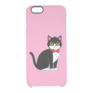 Tuxedo Cat Dressed up in a Bow Tie Clear iPhone 6/6S Case