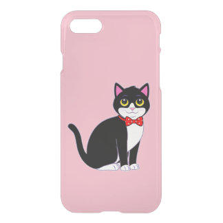 Tuxedo Cat Dressed up in a Bow Tie iPhone 8/7 Case