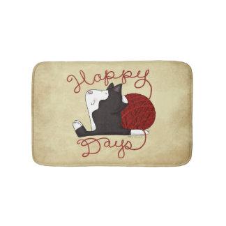 Tuxedo Cat- Happy Days Bath Mat