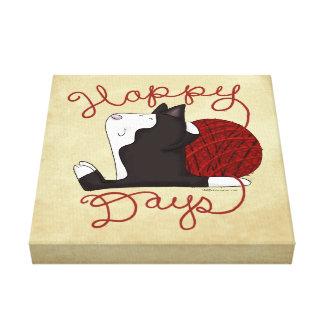 Tuxedo Cat- Happy Days Canvas Print