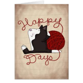 Tuxedo Cat- Happy Days Card