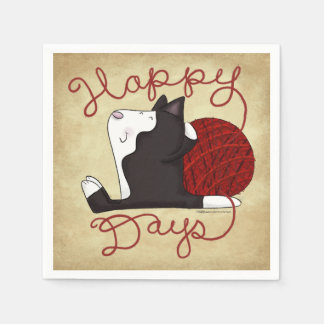 Tuxedo Cat- Happy Days Disposable Napkins