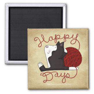 Tuxedo Cat- Happy Days Magnet