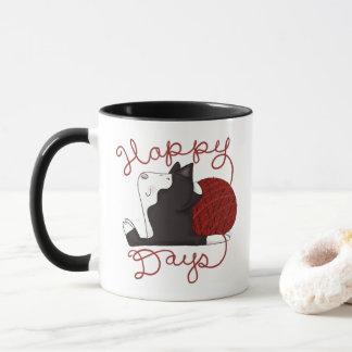 Tuxedo Cat- Happy Days Mug