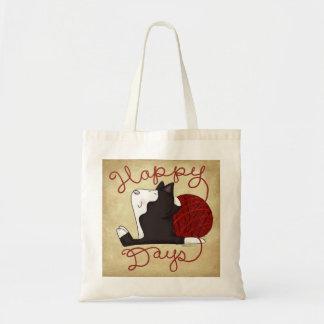 Tuxedo Cat- Happy Days Tote Bag