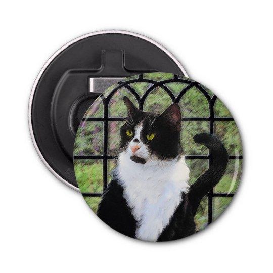 Tuxedo Cat in Window Bottle Opener