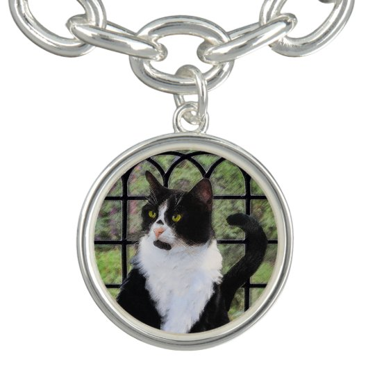 Tuxedo Cat in Window Bracelet