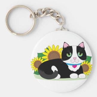 Tuxedo Cat Keychain