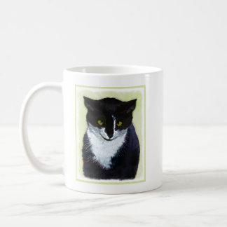 Tuxedo Cat Painting - Cute Original Cat Art Coffee Mug