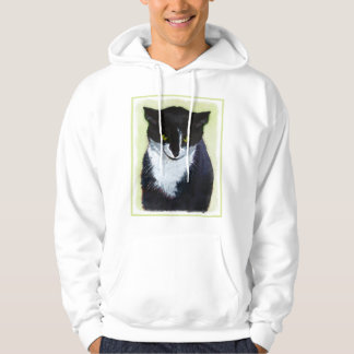 Tuxedo Cat Painting - Cute Original Cat Art Hoodie