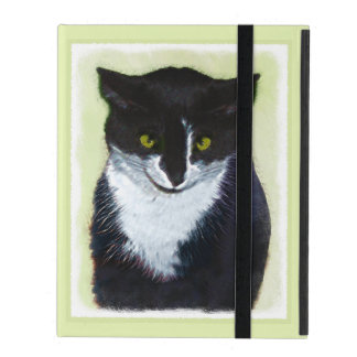 Tuxedo Cat Painting - Cute Original Cat Art iPad Folio Case