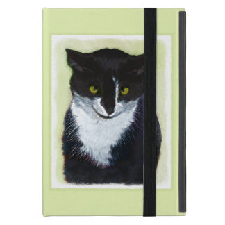 Tuxedo Cat Painting - Cute Original Cat Art iPad Mini Cover