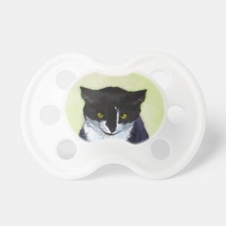Tuxedo Cat Painting - Cute Original Cat Art Pacifier