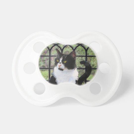 Tuxedo Cat Painting - Cute Original Cat Art Pacifier