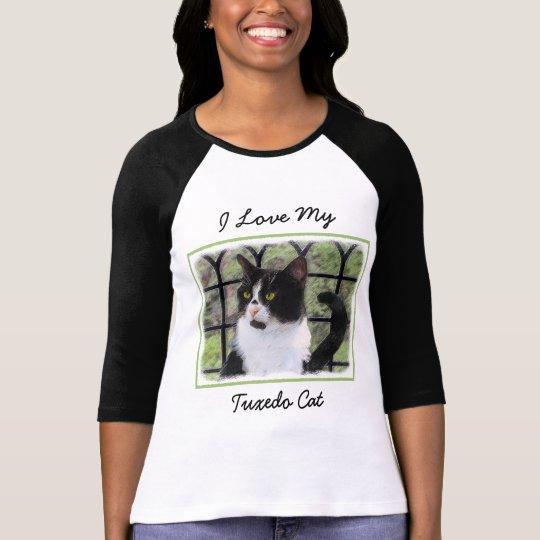 Tuxedo Cat Painting - Cute Original Cat Art T-Shirt