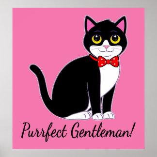 Tuxedo Cat Purrfect Gentleman Poster