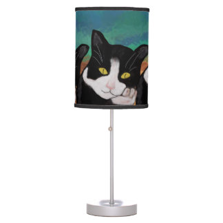 Tuxedo Cat Table Lamp