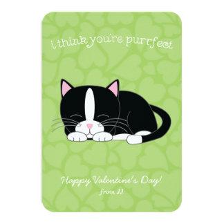 "Tuxedo Cat Valentines 3.5"" X 5"" Invitation Card"