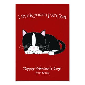 Tuxedo Cat Valentines Invites