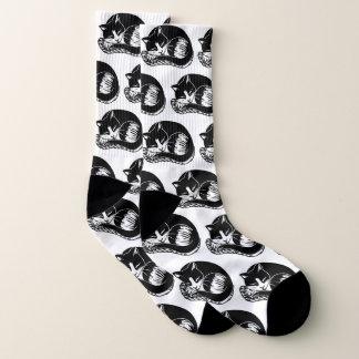 Tuxedo Cats Black and White All-Over-Print Socks