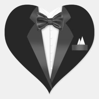 Tuxedo Heart Sticker