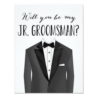 "Tuxedo Junior Groomsman | Groomsman 4.25"" X 5.5"" Invitation Card"