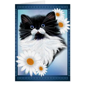 Tuxedo Kitten Face Card