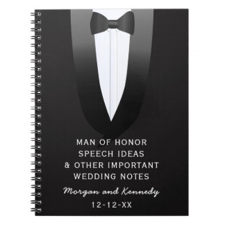Tuxedo Man of Honor Wedding Speech Ideas Journal