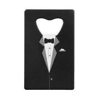 Tuxedo Personalise Bottle Opener Credit Card Bottle Opener