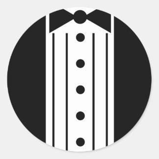 Tuxedo Round Sticker