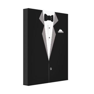 Tuxedo Suit Art Canvas Print