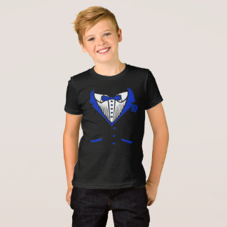 Tuxedo T-Shirt With Blue Bow Tie