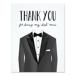 Tuxedo Thank You Best Man | Groomsman Card
