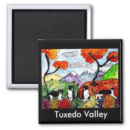 Tuxedo Valley Fridge Magnet