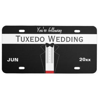Tuxedo Wedding License Plate