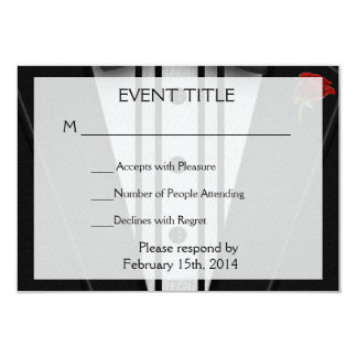 Tuxedo with Bow Tie Monogram Card