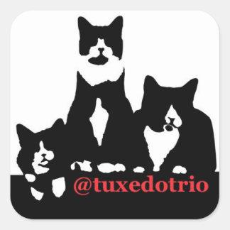 TuxedoTrio Square Square Sticker