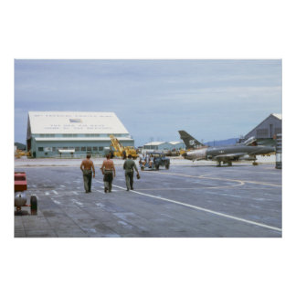 Tuy Hoa Air Base Vietnam 1969 Poster