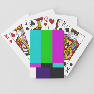 TV bars color test Playing Cards