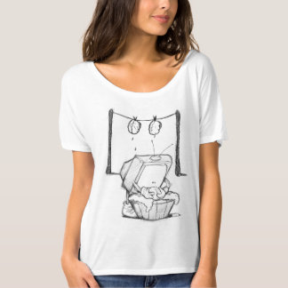 TV Brain Washing Women modern T-shirt