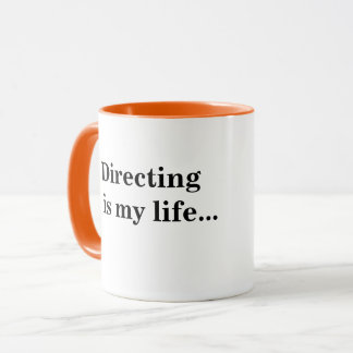 TV Film Director Quote Funny Inspirational Words Mug