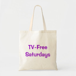 TV-Free Saturdays Tote Bag